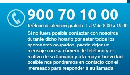 Teléfono del OAGER: 900 70 10 00